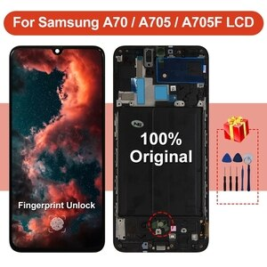 Original For Samsung Galaxy A70 2019 LCD Display SM-A705FN/DS Screen Touch Digitizer For Samsung SM-A705F/DS Screen Replacement
