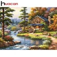 Huacan     peinture diamant theme paysage  broderie complete 5d  perles carrees ou rondes  mosaique  a faire soi-meme  decoration de maison