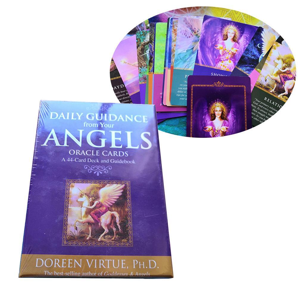 44 hojas de guía diaria de sus tarjetas de ángeles oráculo Tarot versión en inglés Tarjeta de oráculo superventas cubierta Dropshipping