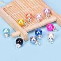 20pcsset diy acc crystal colorful pearl charms pendant jewelry finding diy craft making