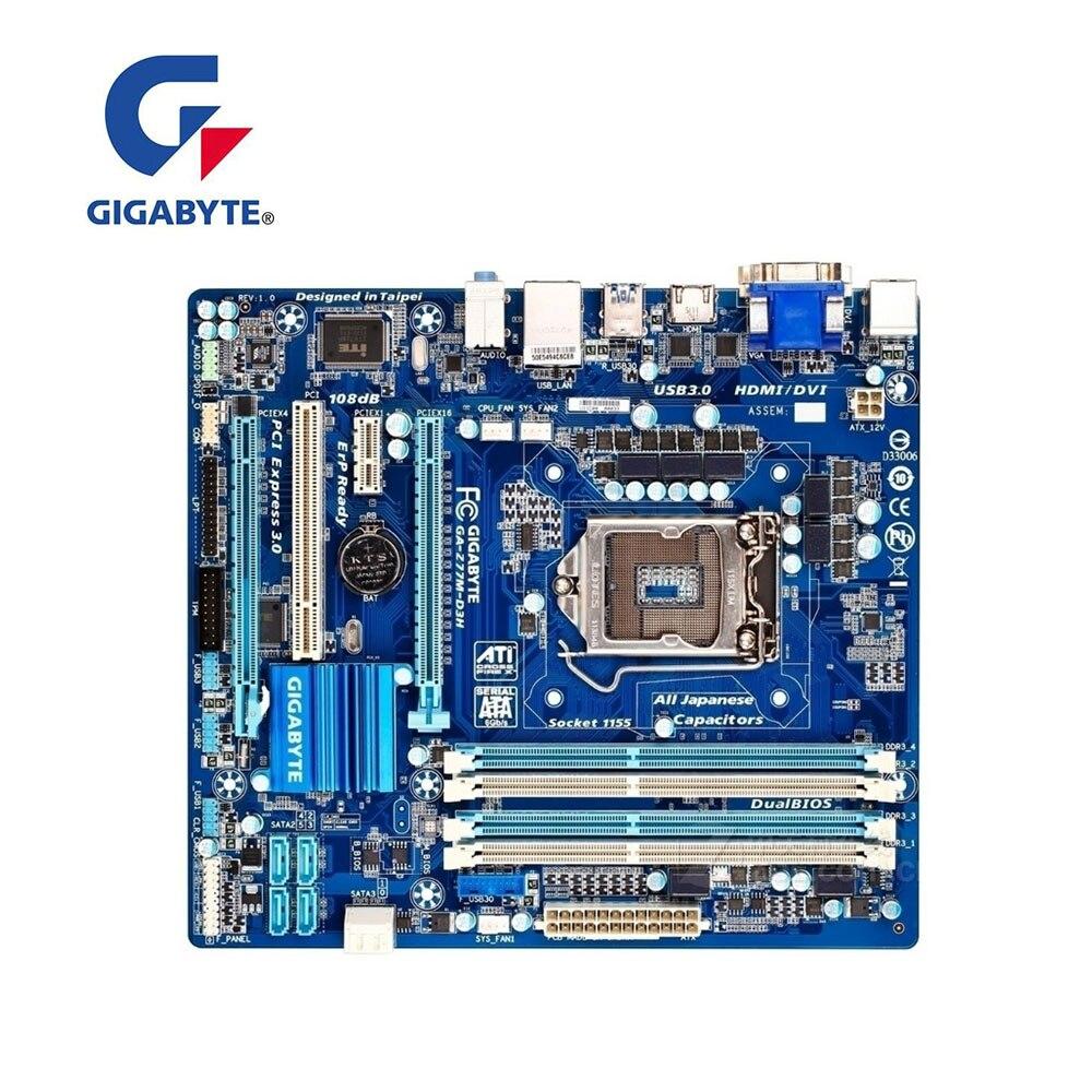 Para GIGABYTE GA-Z77M-D3H Computador USB3.0 SATA III Z77M-D3H Mainboard Desktop Motherboard LGA 1155 DDR3 Para Intel Z77 Z77M Usado