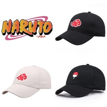 Japon Anime Naruto chapeau dessin animé mignon Cosplay Costumes accessoires Sasuke Akatsuki casquette de Baseball chapeau de soleil fantaisie Comicon cadeau
