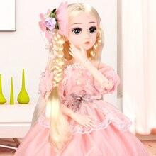UCanaan 1/4 BJD SD poupée 45CM filles princesse poupée avec 18 Joints de balle tenues robe perruque chaussures maquillage enfants cadeau danniversaire jouets