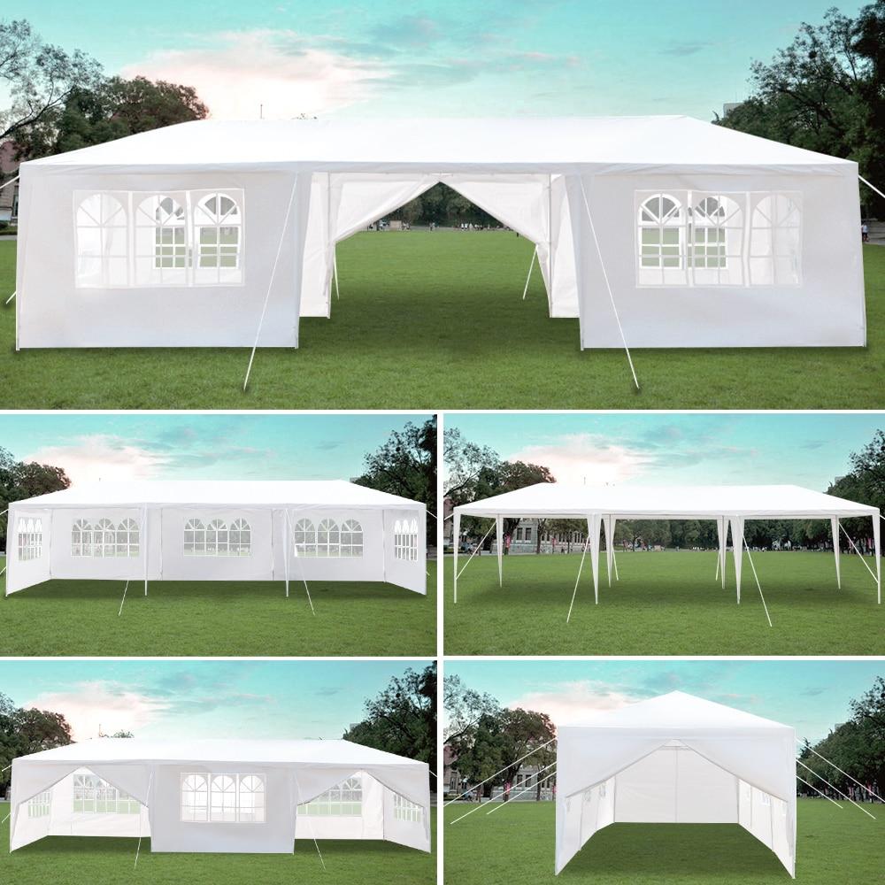 3x9m Acht Seiten Zwei Türen Wasserdichte Zelt mit Spirale Rohre Garten Zelt Pavillon Baldachin Tragbare Upgrade pavillon