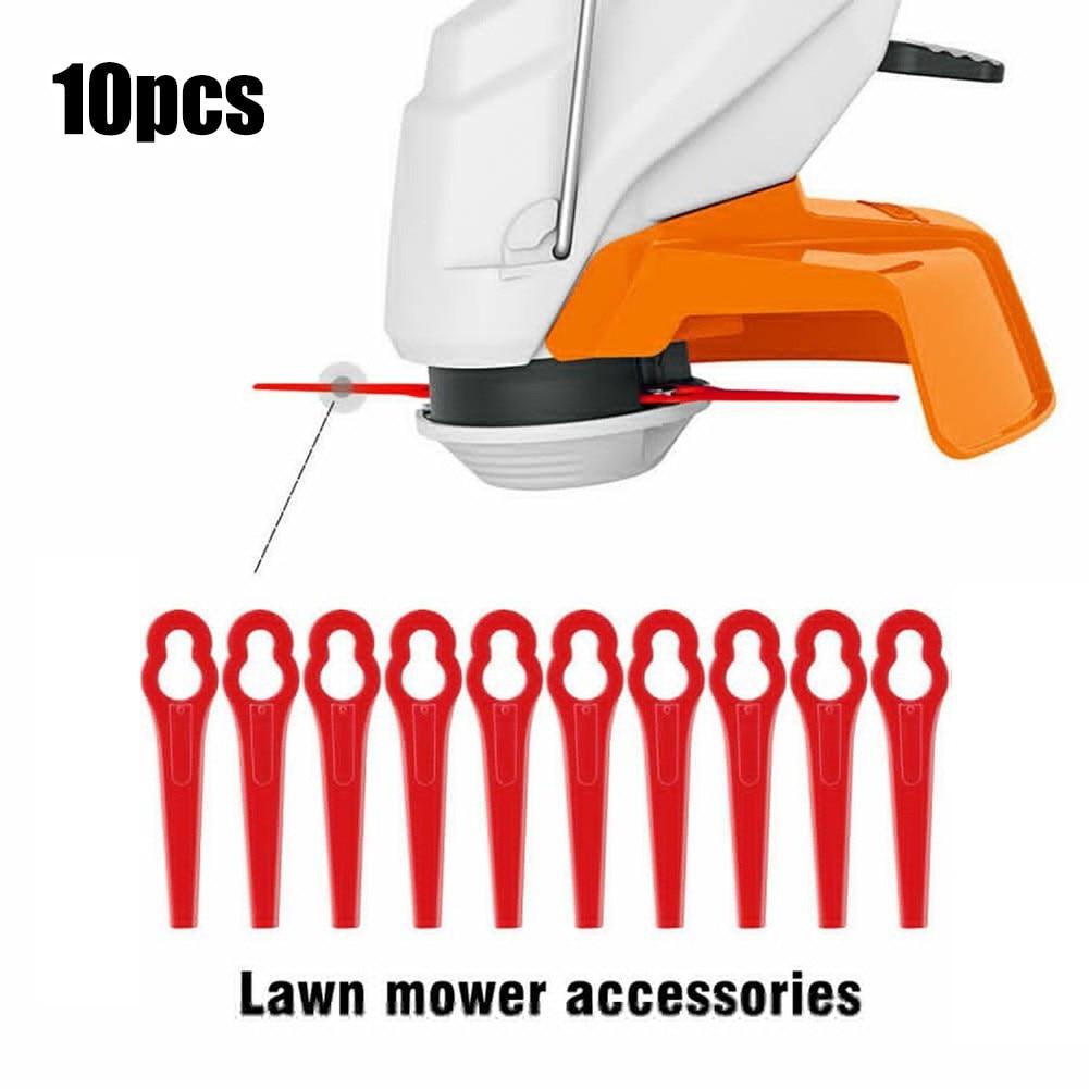 10 сменных лезвий для беспроводного триммера для травы Einhell GE-CT 18, Пластиковые лезвия для триммера для травы, садовые аксессуары для косилки