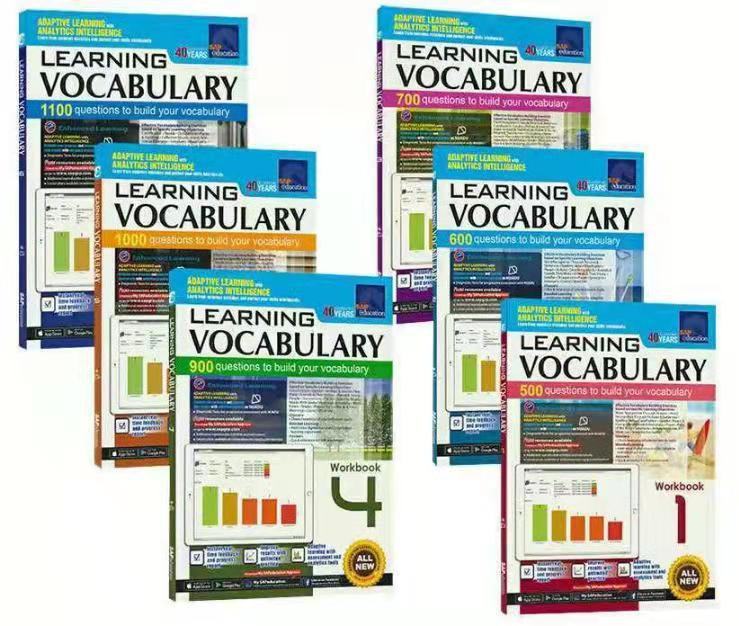 6 Books 7-12 years old SAP Learning Vocabulary Singapore English Vocabulary Exercise Book Set Enlightenment Early Education Book