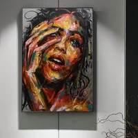 hd prints canvas painting modular beautiful woman picture nordic wall art home decor abstract graffiti modern living room poster