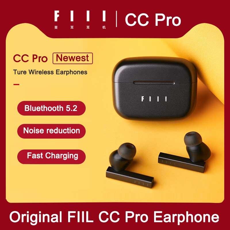 جديد وصول FIIL CC برو TWS بلوتوث 5.2 سماعات مزدوجة إلغاء الضوضاء سماعة أذن أصلية لا سلكية في الأذن سماعات ANC ENC
