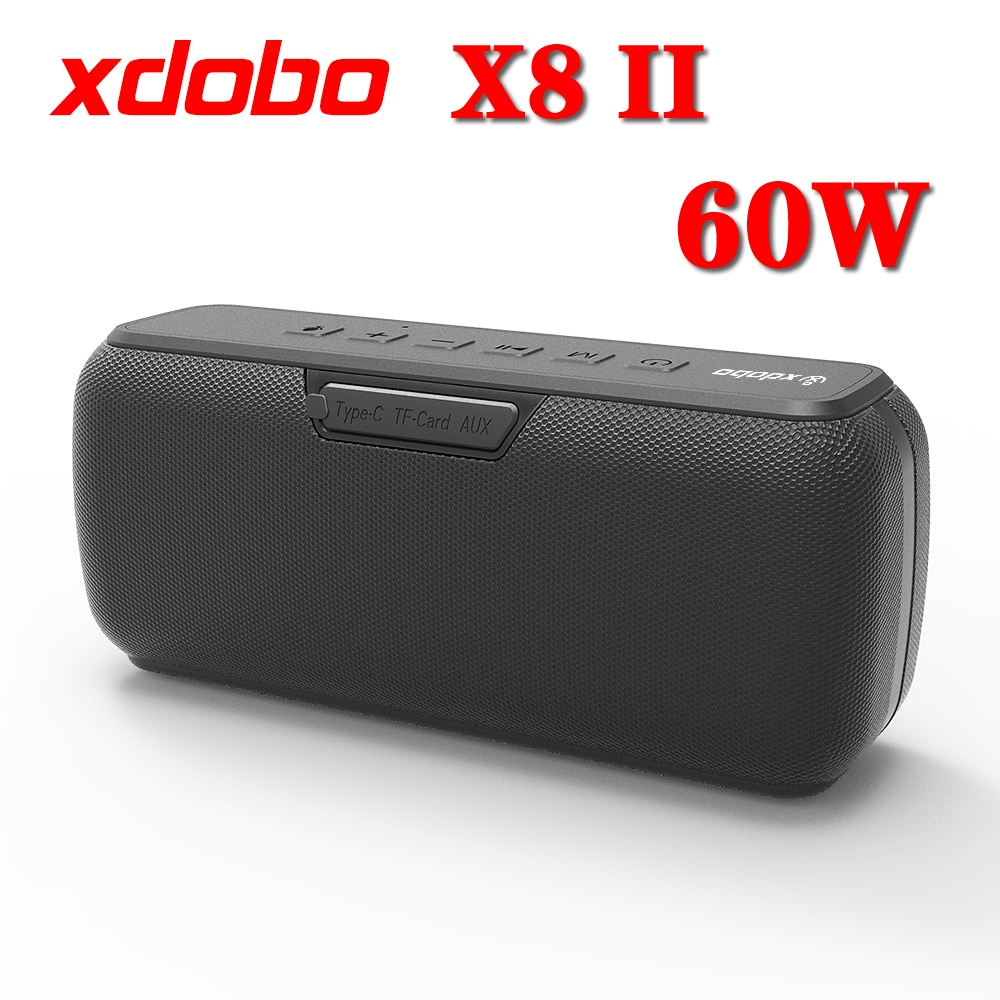 X8II XDOBO-مكبر صوت خارجي ، مضخم صوت لاسلكي ، بلوتوث ، صندوق صوت HiFi محمول 60 واط مع DJ ، مقاوم للماء ، IPX5
