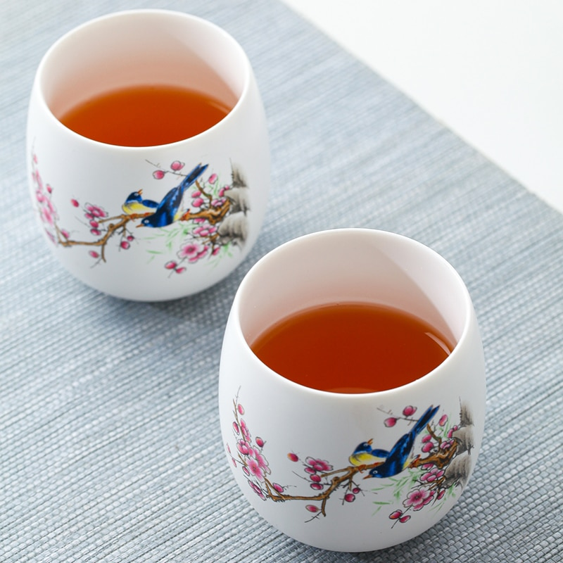 Jingdezhen tea set set household tea maker living room reception ceramic small set gift box teapot teacup simplicity