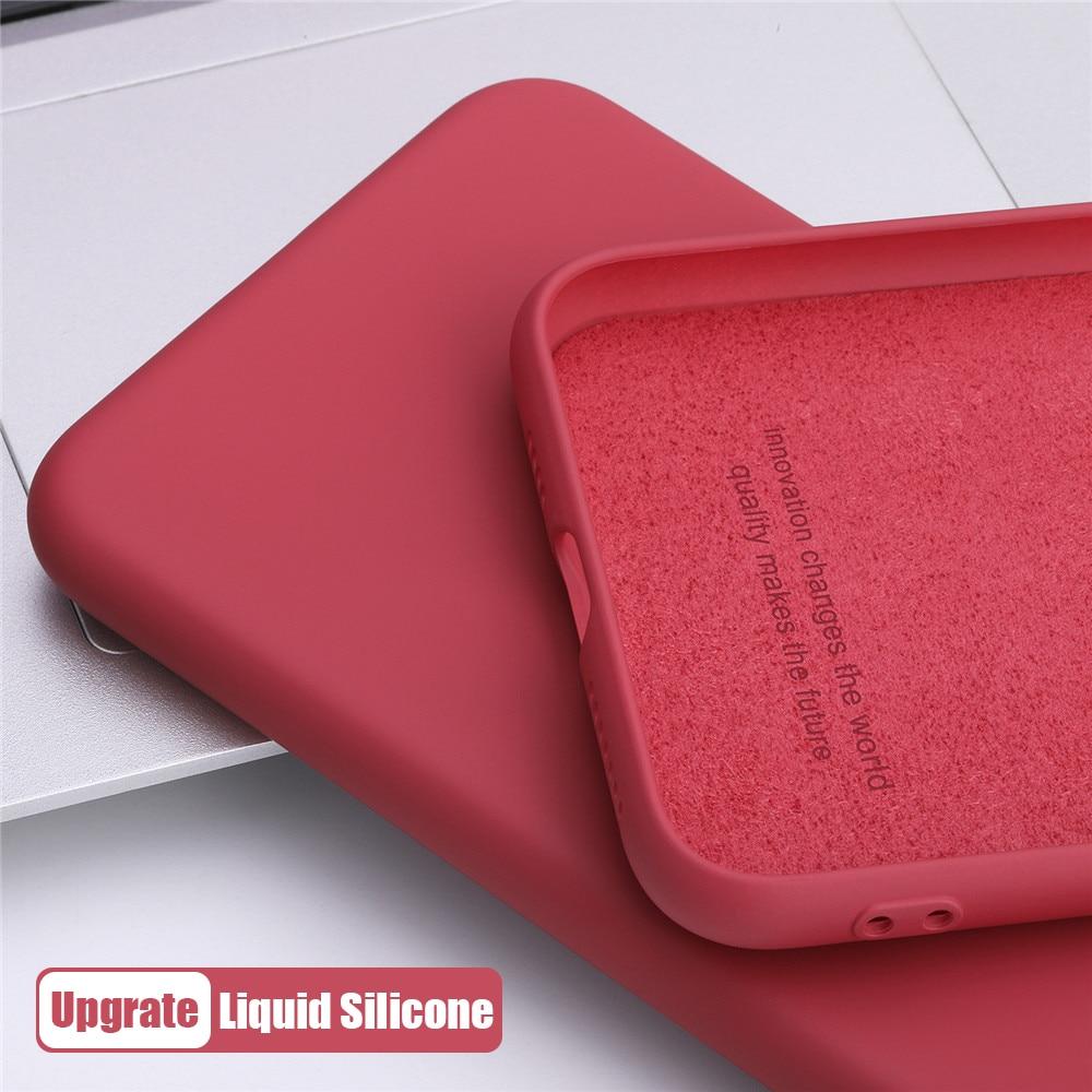 Funda de teléfono de silicona líquida FINA Original para vivo Y19 Y17 Y15 Y12 Y50 Y85 Y97 Y70s U20 U10 Z1x a prueba de golpes Candy cubierta completa