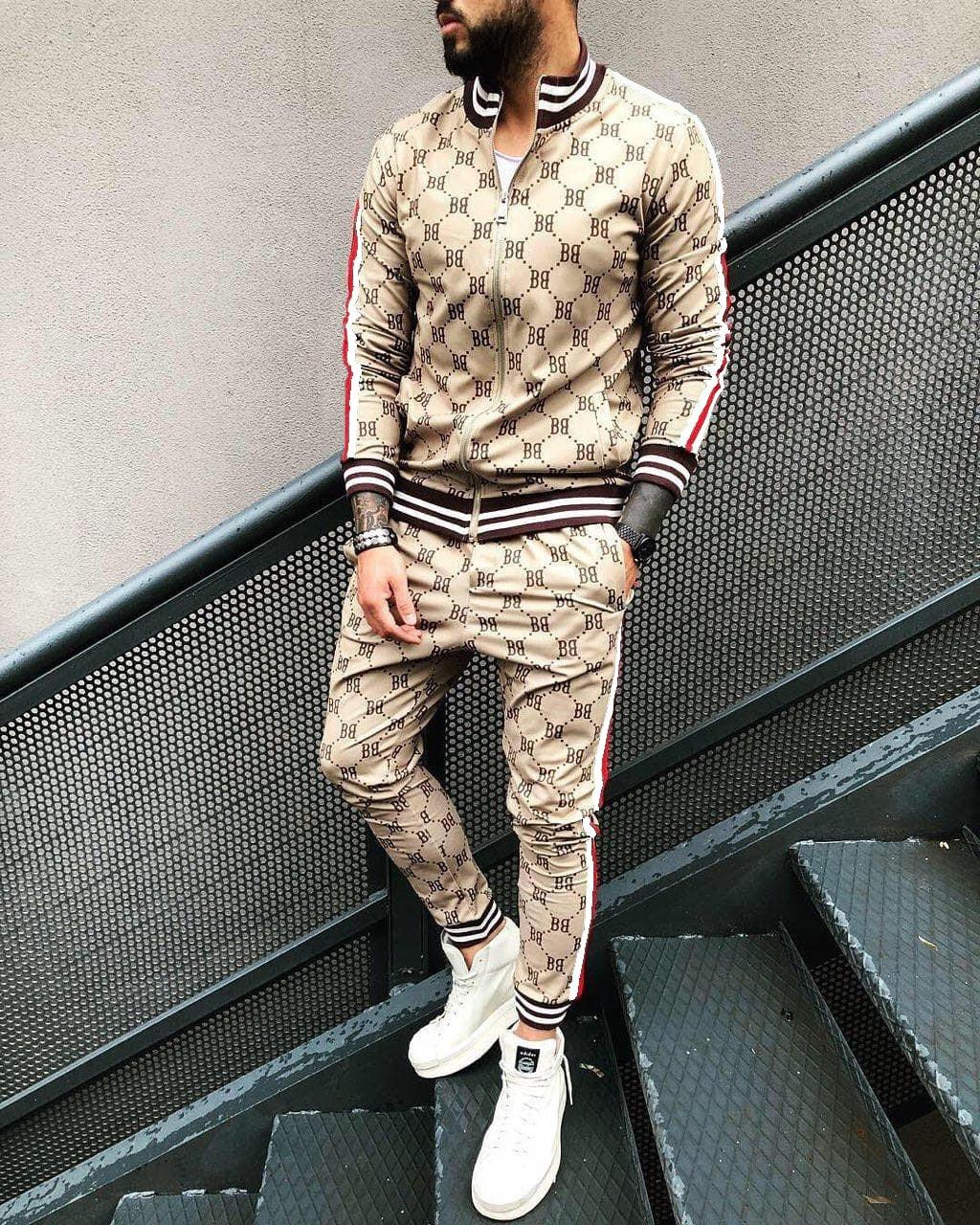 ZOGAA 2021 New Hooded Sportswear+Sports Pants Two-piece 3D Printing Suit Casual Fitness Sportswear Thin Streetwear Men Clothing