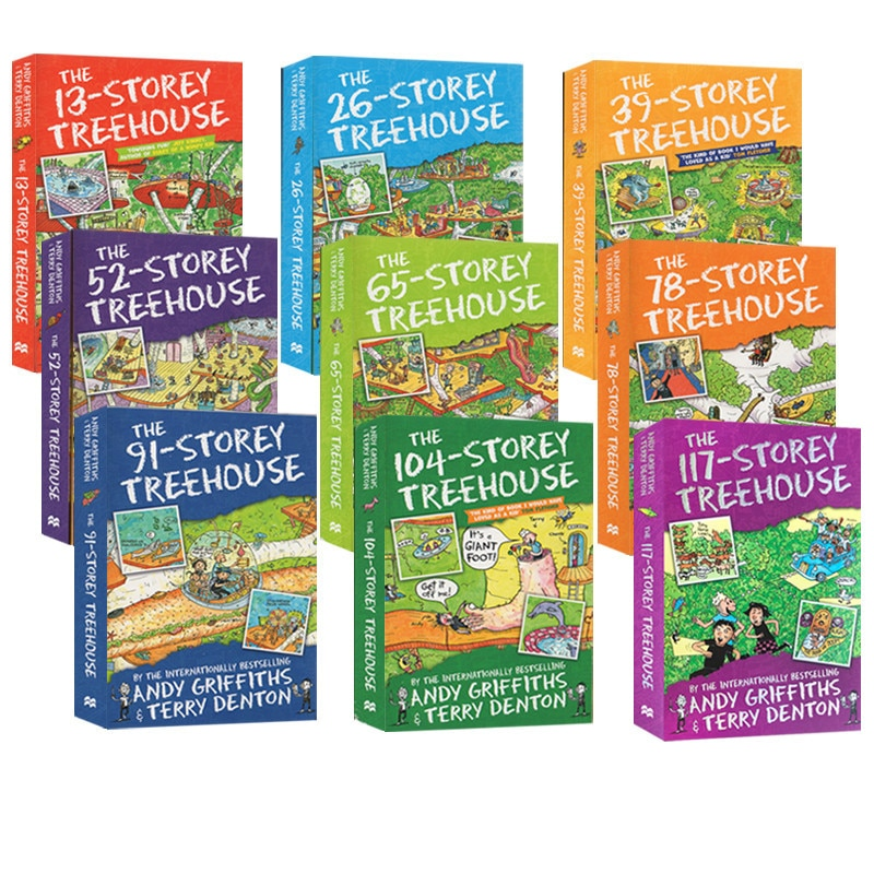 9 Books/Set book sets in english The Storey Treehouse Book Interesting Story Picture English Book Kids Reading