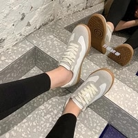 womens shoes retro 2021 spring new single shoes white shoes female ins fashion flat casual sports shoes tide