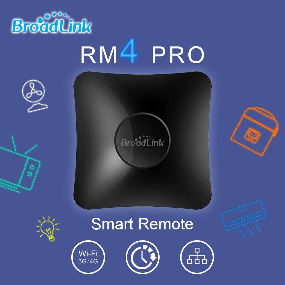 Controlador de Automação ir + rf Broadlink Wifi Remoto Residencial Inteligente Compatível Alexa Google Assistente Casa Homekit Rm4pro wi fi