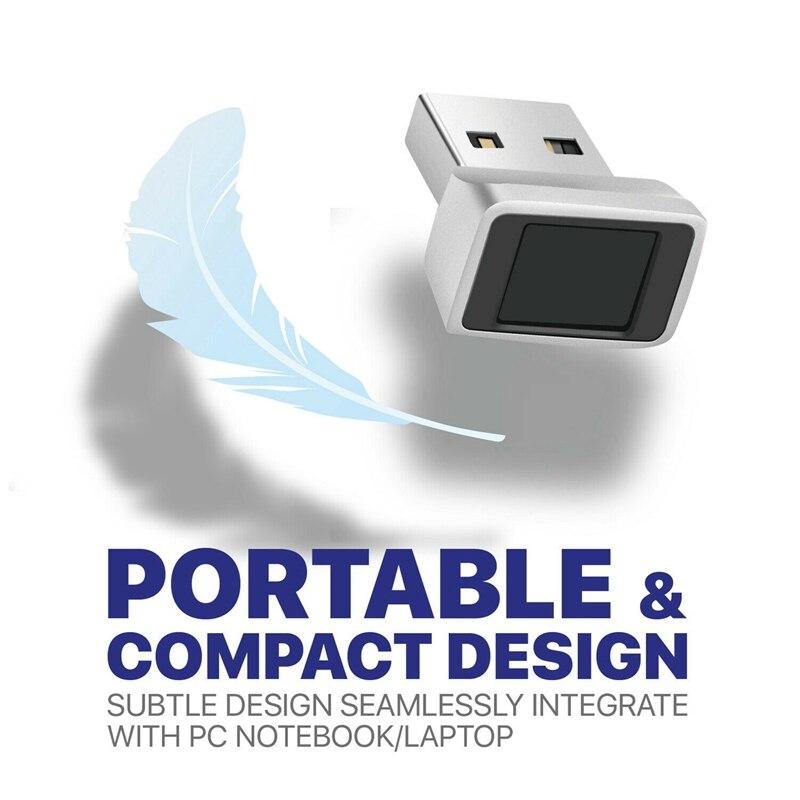 قارئ بصمات الأصابع USB ، لنظام التشغيل Windows 10 ، مرحبًا ، ماسح حيوي لأجهزة الكمبيوتر المحمول والكمبيوتر الشخصي