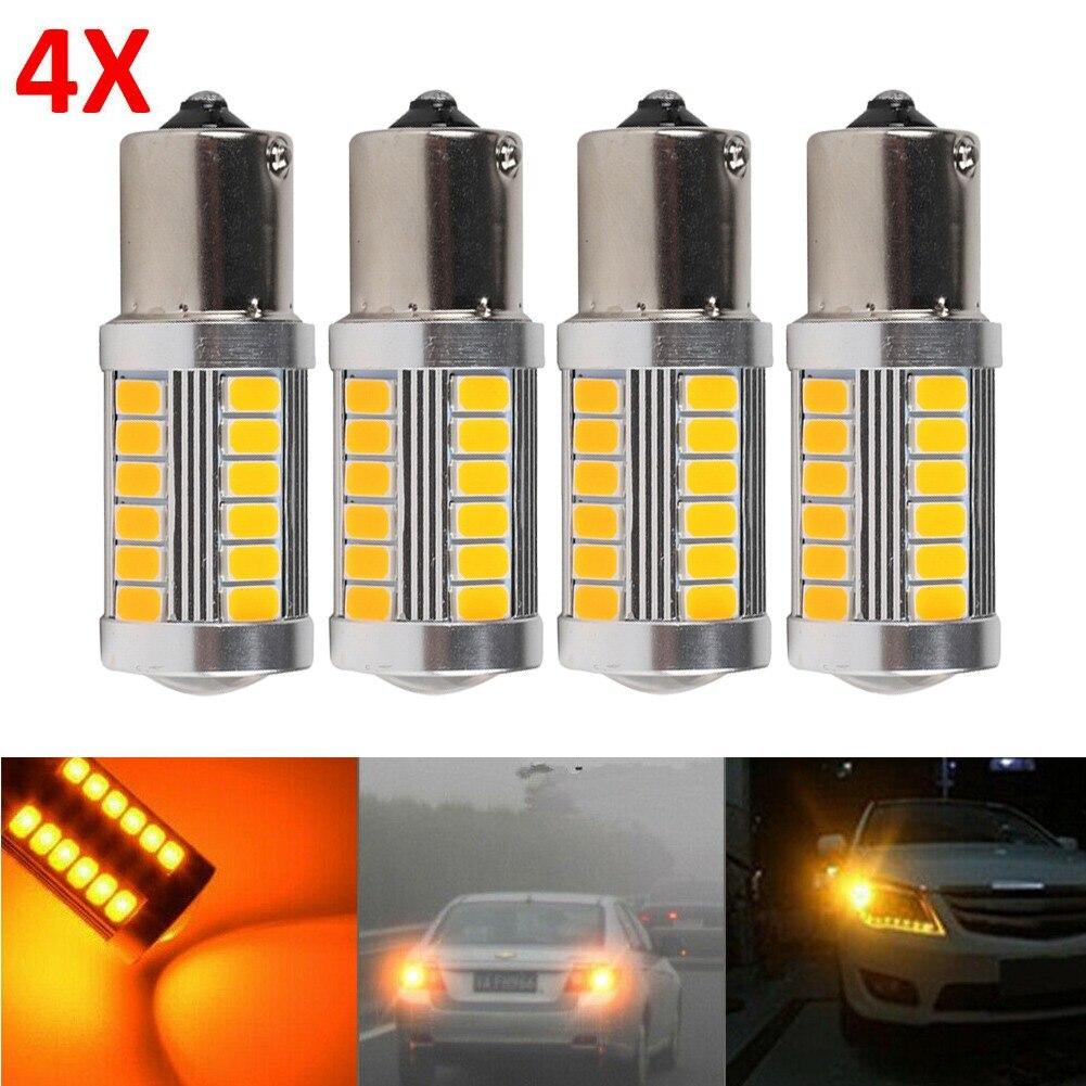 Запчасти, поворотный сигнал, светодиодная лампа BAU15S, автомобильный индикатор PY21W, задняя Замена