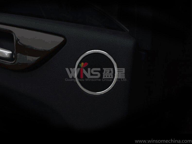 Para Mercedes Benz clase GLE altavoz de puerta trasera cromado adhesivo decorativo 3D molduras interiores accesorios de estilo de coche