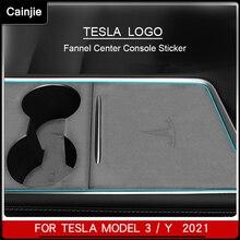 Car Central Control Protection Sticker For Tesla Model 3 Interior Accessories Flannel Model Y Sticke