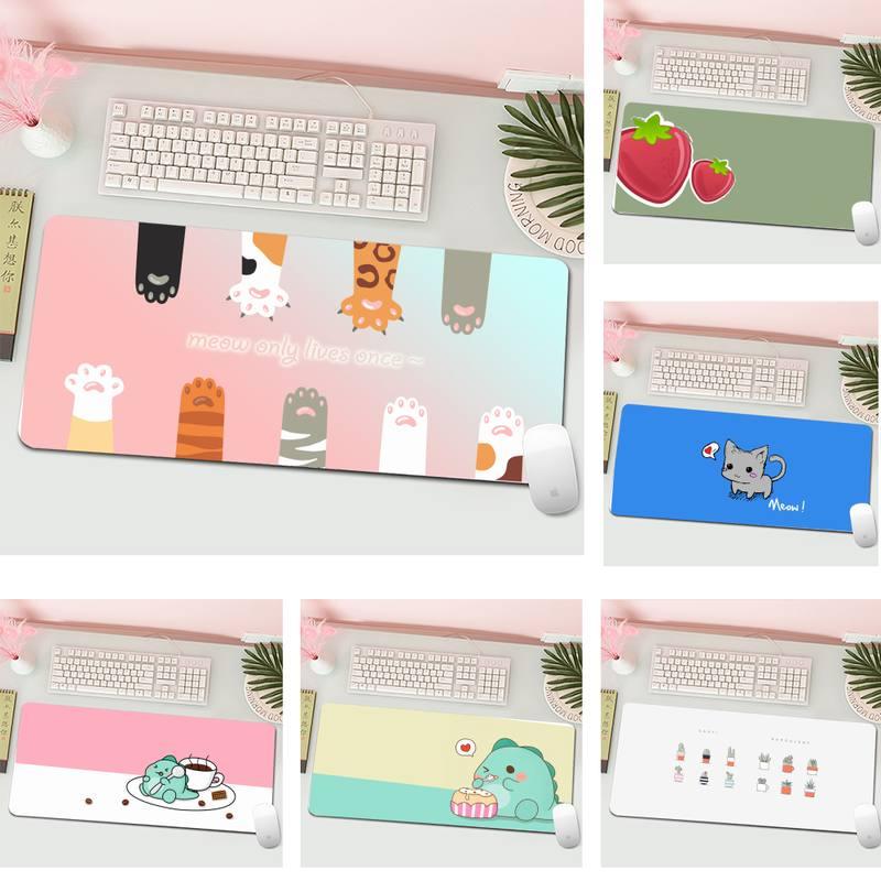 Милый мультяшный персонализированный большой игровой коврик для клавиатуры, ПК, настольного компьютера, планшета, игровой коврик для мыши