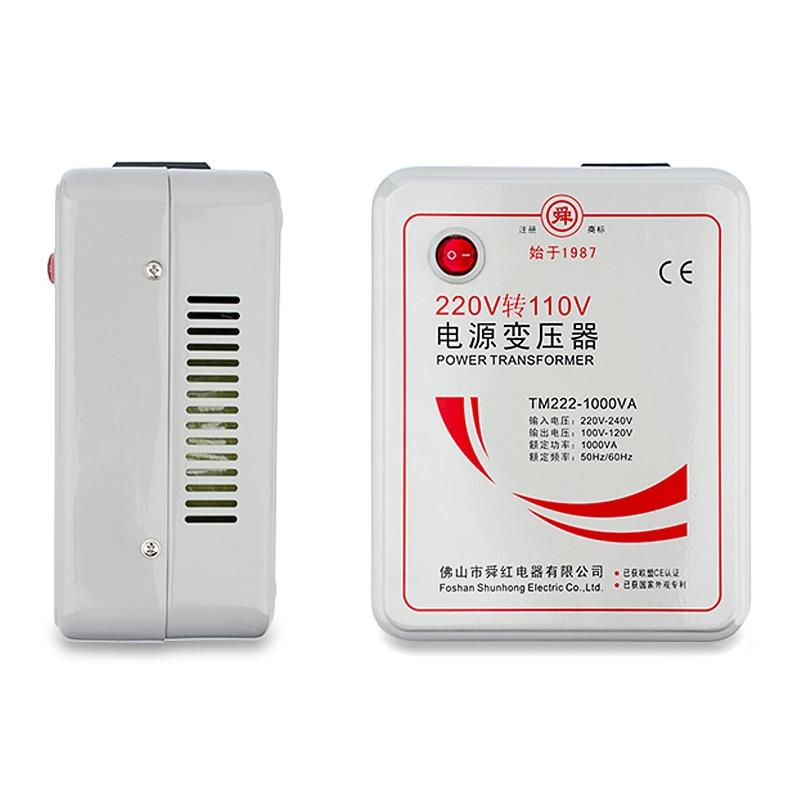 1000 Вт 1 кВА понижающий преобразователь напряжения трансформатор 220 В-240 В до 110 В-120 в