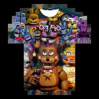 new 3d printing children t shirt five nights of teddy bear t shirt boys and girls fashion short sleeve fnaf kids tees for teen