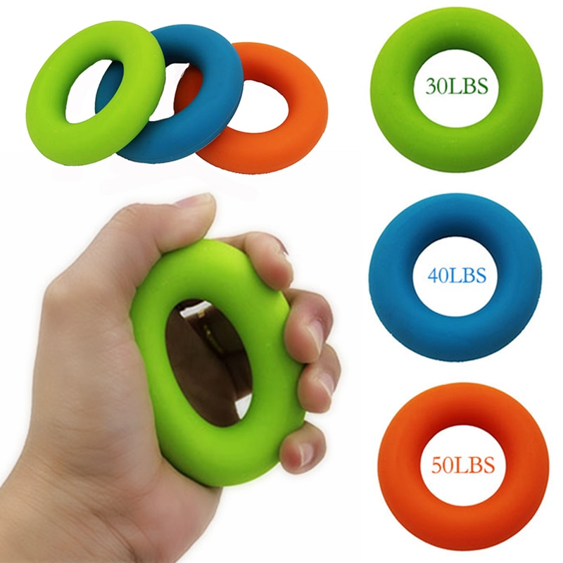Silicone Ring Hand Grip Muscle Power Training Outdoor Slim Fitness Tools Resistance Band Hand Grip Flexible Exercise Accessories