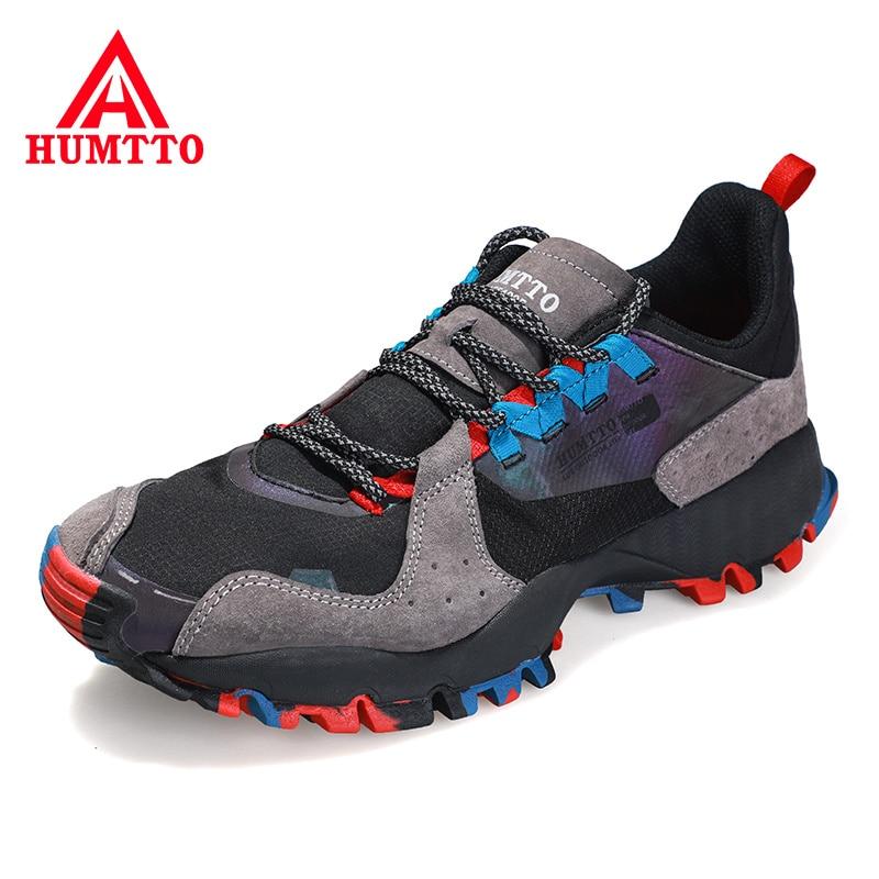 HUMTTO ماركة في الهواء الطلق أحذية رياضية الرجال موضة جلد حذاء كاجوال للذكور الدانتيل متابعة تنفس فاخر مصمم احذية الجري رجالي