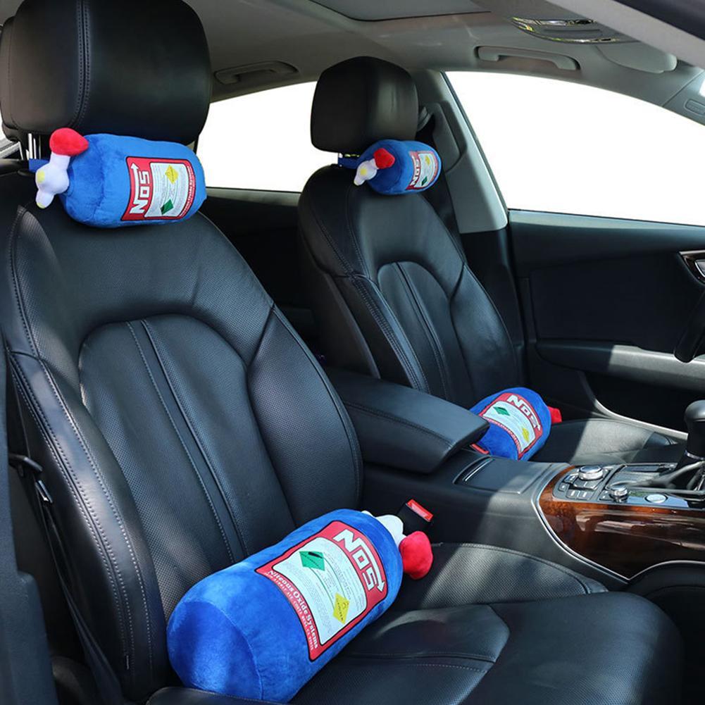 Pillow Car NOS Car Seat Headrest Comfortable Innovative Plush Neck Pillow Cushion Car Decor Car Pillow NOS Car Seat Headrest