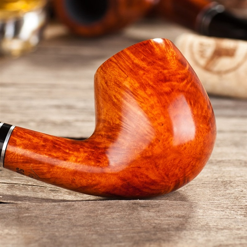 Tobacco Pipe Briar Pipes Wooden Bent Smoking Pipes  Cigarette Accessories enlarge