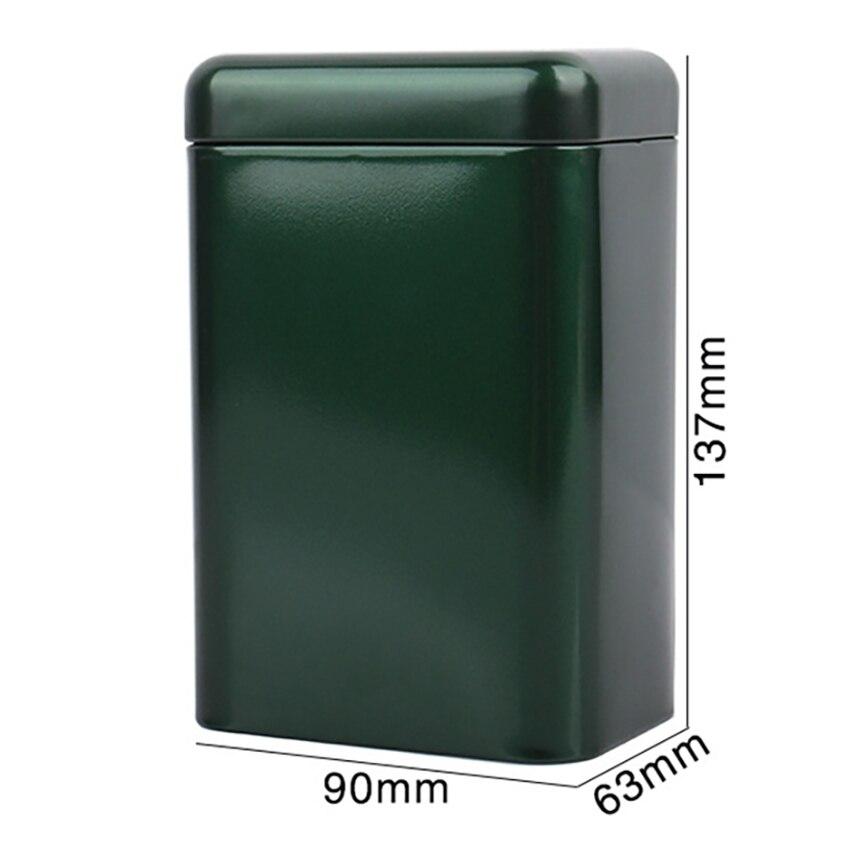 Купить с кэшбэком Tinplate Frosted Tea Can Tea Caddies Storage Box Candy Cookie Coffee Organizer Jar For Home Kitchen Iron Sealed Cans 90*36*137mm