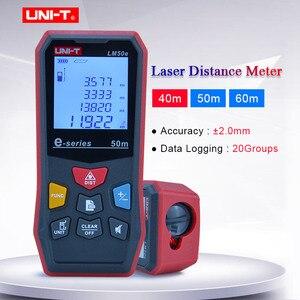 UNI-T лазерный дальномер 40 м/50 м/60 цифровой лазерный дальномер LM40e LM50e LM60e рулетка Лазерная электронной линейкой