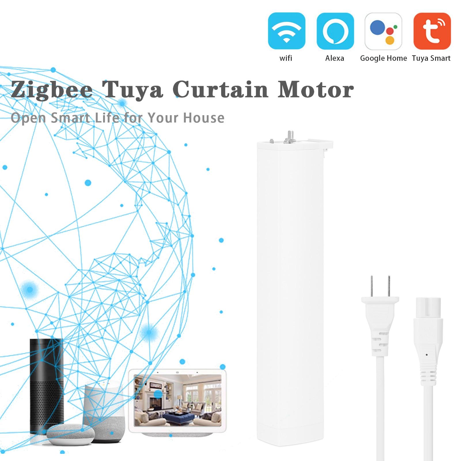 Tuya-مفتاح تحكم ذكي للستائر الآلية ، ومفتاح تحكم في مصراع الأسطوانة ، وواي فاي ، متوافق مع Alexa و Google