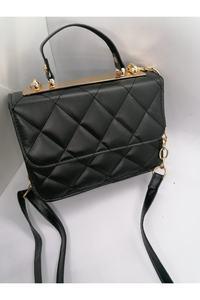 Black Shoulder Bag Medium Outdoor Faux Leather Normal