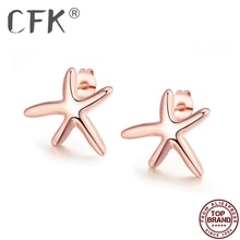 CFK Zeester Stud Oorbellen Voor Vrouwen Eenvoudige Oorbel Anniversary Mode-sieraden Cadeau Geven Gir