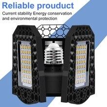 Lumière de LED UFO E27 déformable LED lumière de Garage 40W 60W 80W LED ampoule 220V lampe pliante E26 entrepôt éclairage industriel 110V 2835