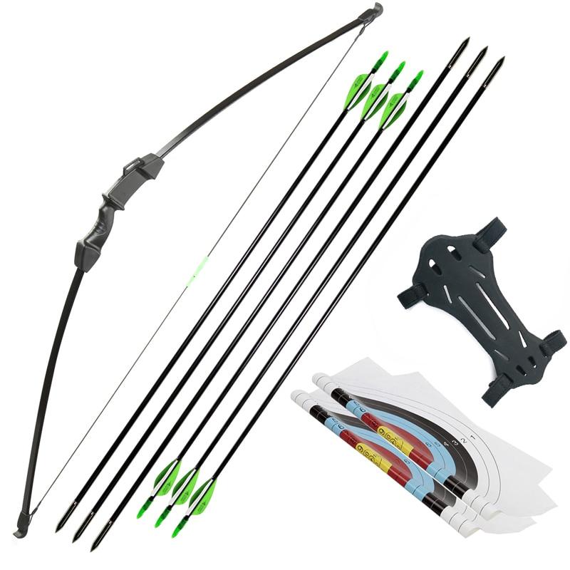 Archery15-20lbs قوس Recurve انهاء الخدمة القوس والسهم مجموعة للشباب الكبار ممارسة مستقيم القوس انغبو كيت الاطفال اطلاق النار