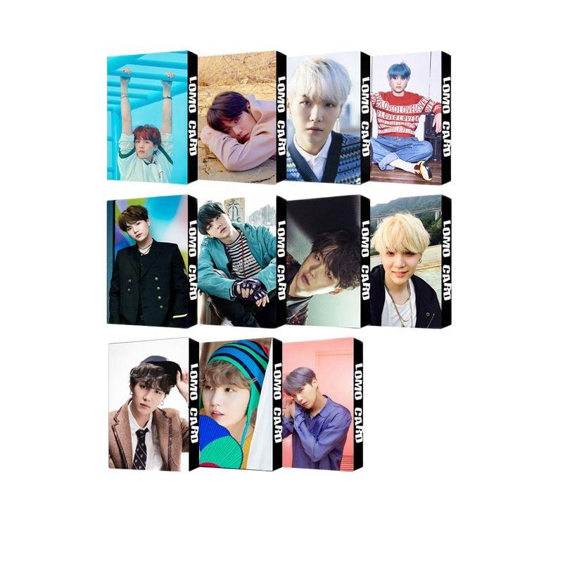kpop lomo card bangtan boys album map of the soul persona member photocard set 30 cards Hot South Korean Groups KPOP Bangtan Boys Lomo Card Poster Album LOVE YourSelf Collection Card Photocard Lomo Cards Gift SUGA