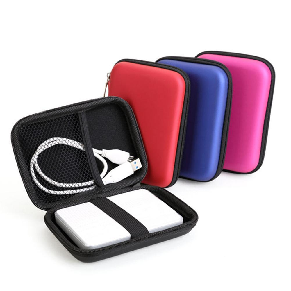 Portable 2.5'' HDD Bag External USB Hard Drive Disk Carry USB Cables Case Cover Pouch Earphone Bag for PC Laptop Hard Disk Case