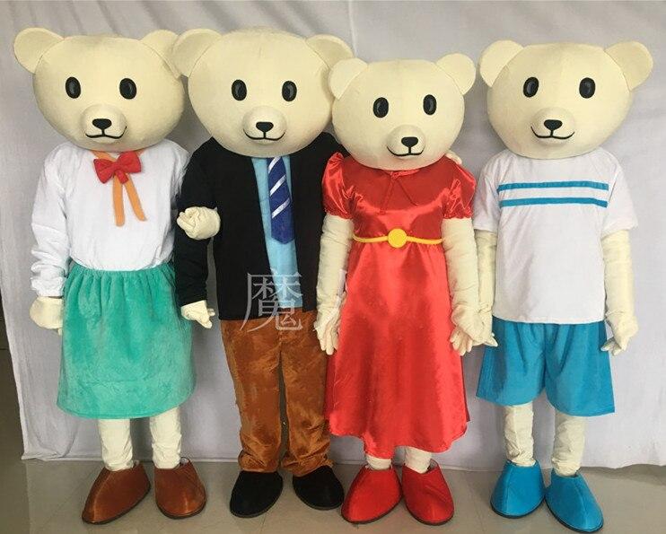 محبوب تي شيرت تيدي ملابس Bear Mascot فساتين الدمى الدب بيبي دول ازياء الملابس رغوة لحفلة هالوين Carival