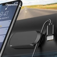 oppselve magnetic car phone holder mini smartphone stand for iphone 11 pro max 8 7 huawei p30 p20 pro lite with cable organiser