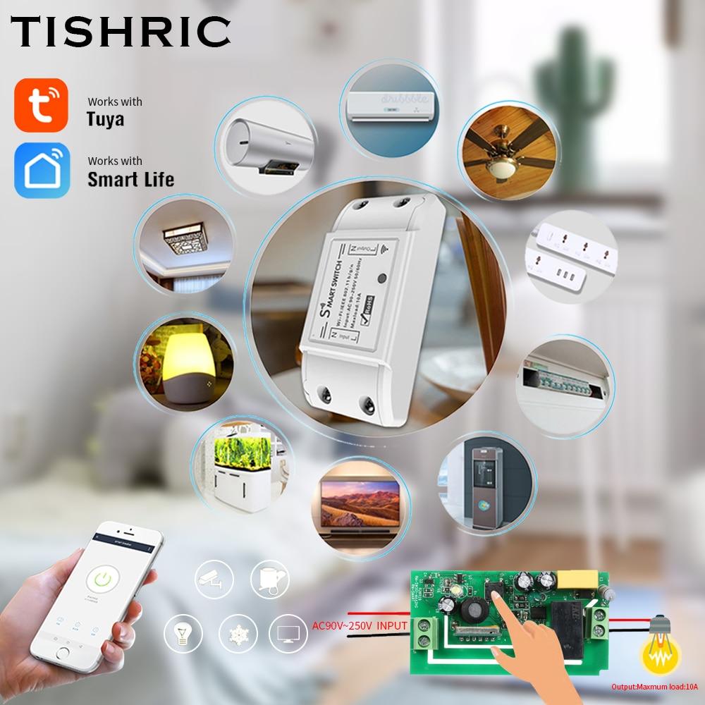 TUYA Smart Life APP interruptor de luz Wifi DIY universal temporizador Wirelss trabajo de Control remoto con Alexa Google módulo domótico