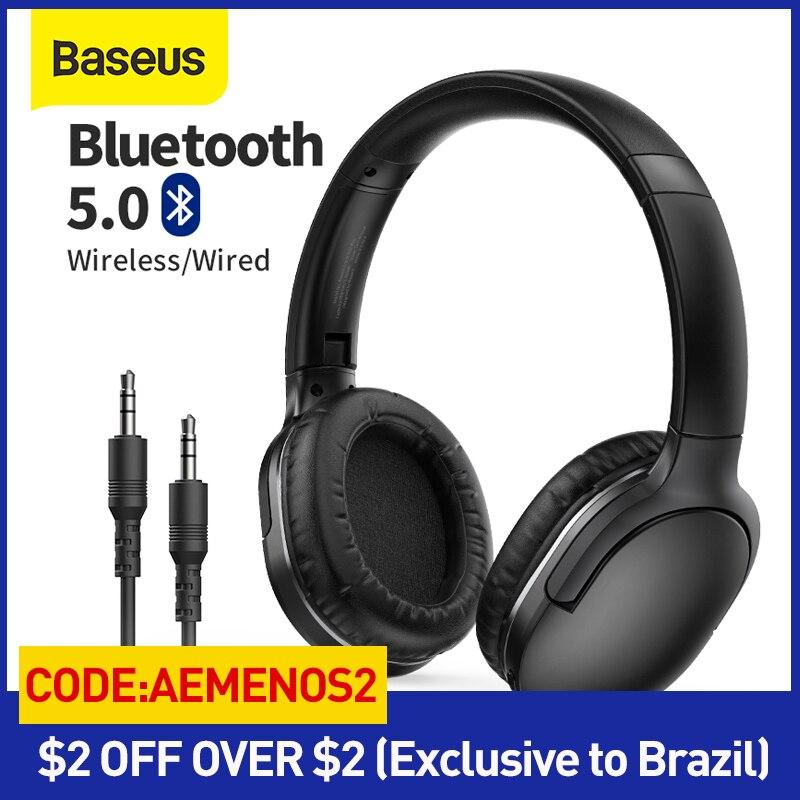 Baseus D02 برو سماعات لاسلكية بلوتوث 5.0 سماعة سماعة طوي سماعات رأس رياضية الألعاب الهاتف Fone سماعات بلوتوث