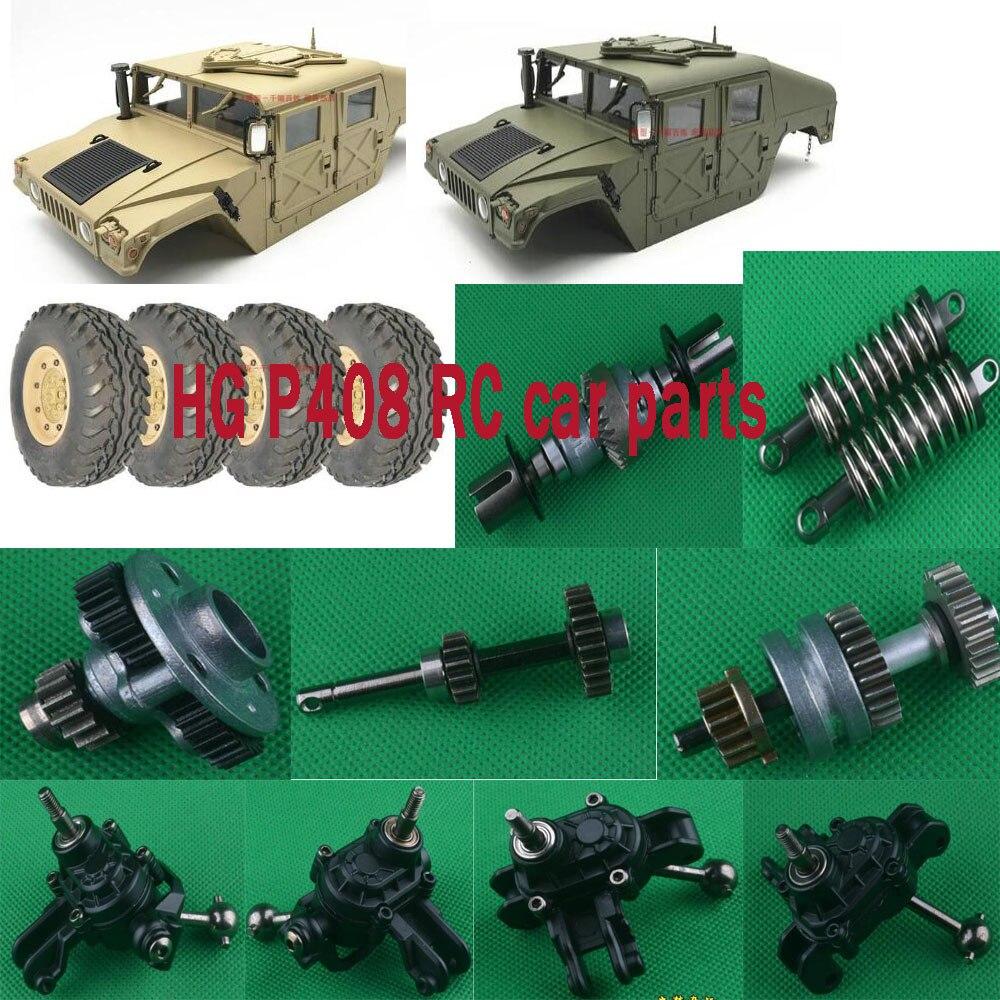 ¿HG P408 RC piezas del coche amortiguador del eje de shell del coche neumáticos caja de cambios diferencial puerta soporte rod etc?