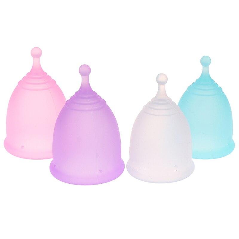 Менструальная чаша из 100% силикона, многоразовая менструальная чаша для женщин, 1 шт.