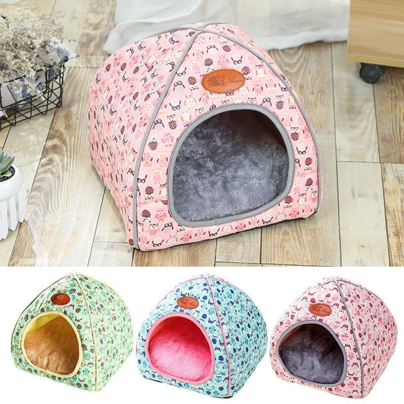 Casa de mascotas iglú acolchado polar invierno cálido cachorro cama casa cueva perro gato casa perrera para dormir bolsa cama estera nido invierno cálido