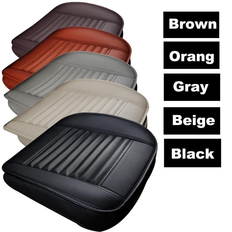 1 pc universal almofada de assento de couro respirável de bambu almofada de assento de carro tapete de almofada de cadeira de carro universal-estilo suportes