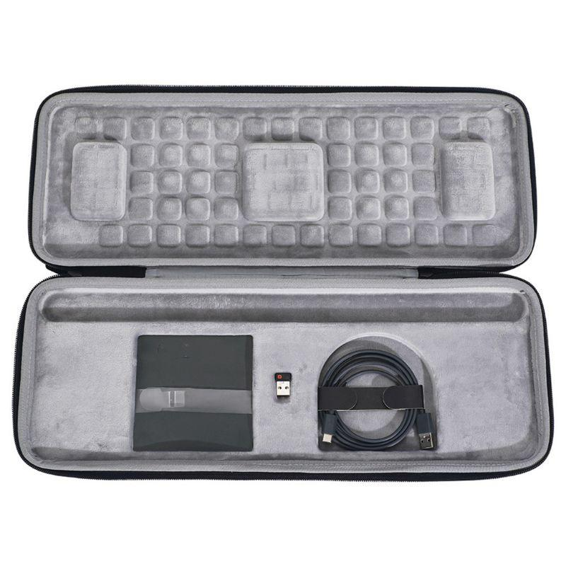 Bolsa de almacenamiento de teclado BEESCLOVER, estuche portátil de viaje para ratón, funda para teclado, Estuche de transporte para Logitech Craft Advanced