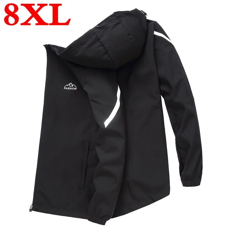 2020 big size 8XL 7XL New Spring  Autumn Jacket Men Casual plus size Jacket Male Outwear Zipper Thin Coat Brand Clothing