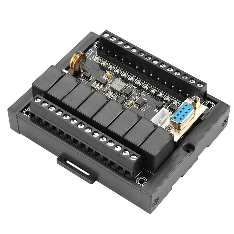 PLC programmable controller DC 24V Relay module FX1N-20MR with Base Industrial Control Board Program